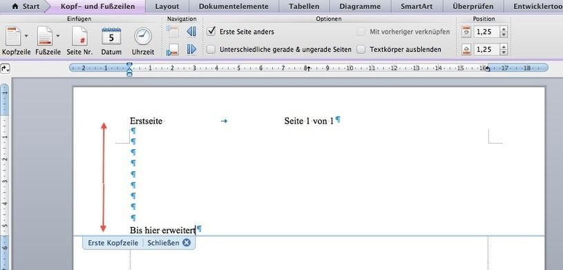 MS Word: Automatisch unterschiedliche Seitenränder   MacUser.de ...