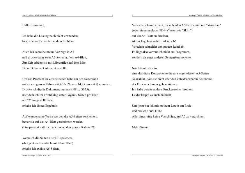 zwei A5-Seiten auf eine A4-Seite drucken | Seite 2 | MacUser.de ...