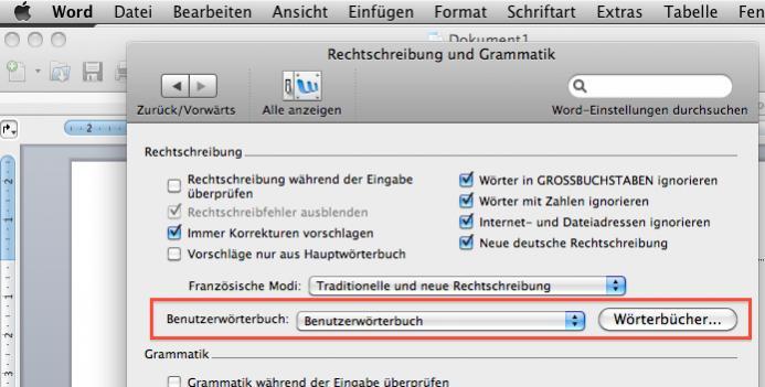 WORD: Wörterbuch weg? Wieso? | MacUser.de Community