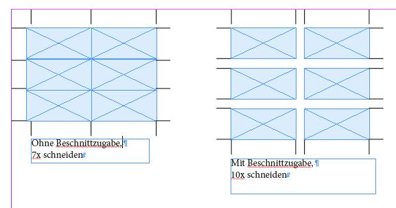 Indesign Schnittmarken Innerhalb Eines Indesign Dokuments