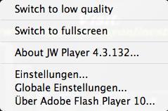 Audio von JW Player resp  Adobe Flash Player downloaden: geht das