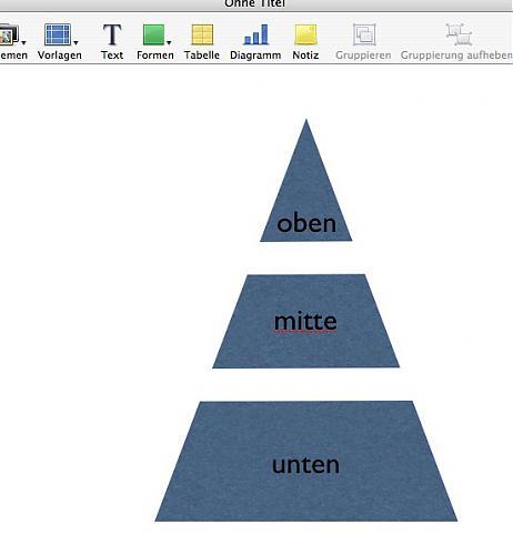 3 geteilte Pyramide in Keynote?? | MacUser.de Community
