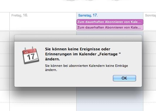 Os x kalender doppelte eintrage loschen