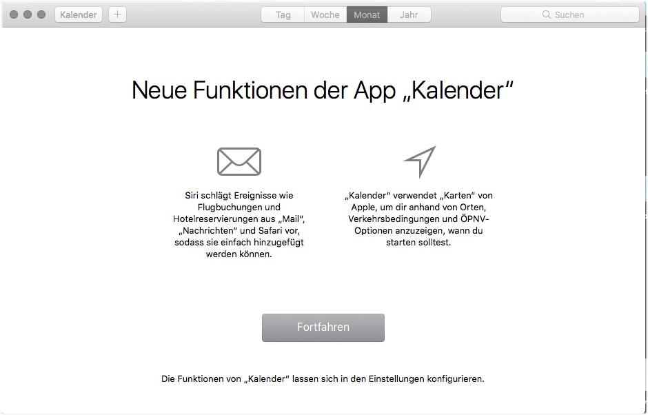 macOS High Sierra - Im AppStore, Notizen und Messages ist