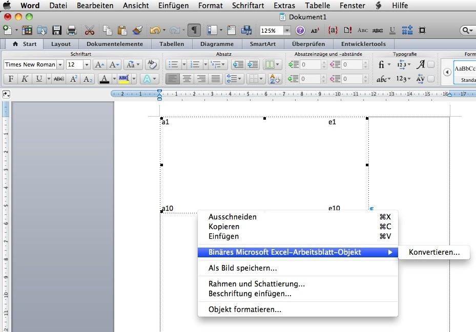 Excel in Word eingefügt: Wie Anzahl Zeilen anpassen? | MacUser.de ...
