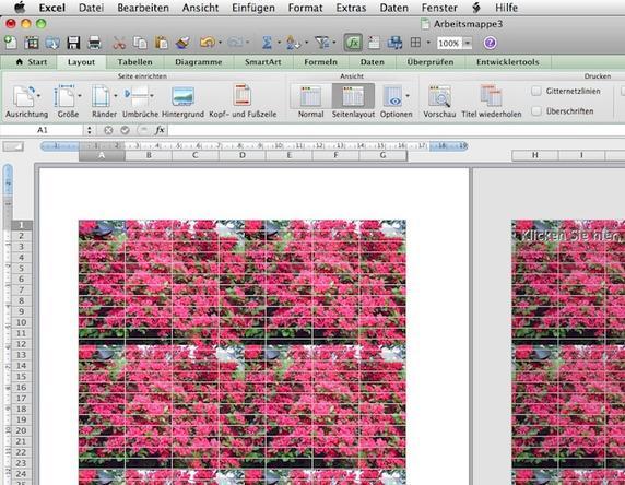 Excel bild hintergrund drucken