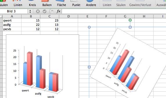 Kann man in Excel (Office Mac 2011) auch Diagramme drehen? | MacUser ...
